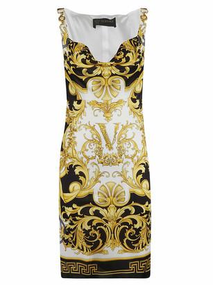 Versace Initials Print Sleeveless Dress