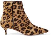 Aquazzura Quant Leopard-print Calf Hair Ankle Boots - Leopard print