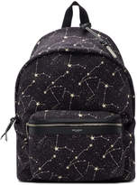 Saint Laurent Black Constellation City Backpack