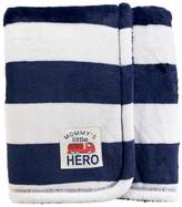 "Carter's Baby Boy Striped ""Mommy's Little Hero"" Plush Blanket ()"