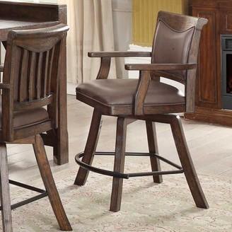 "Tremper Swivel Bar & Counter Stool (Set of 2) Millwood Pines Seat Height: Bar Stool (30"" Seat Height)"