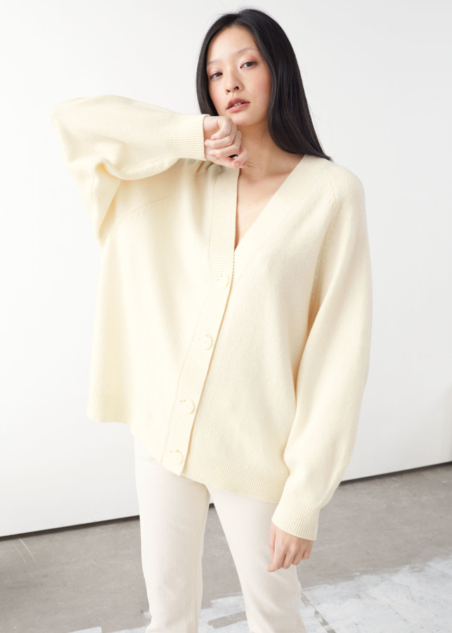 And other stories Oversized Wool Cardigan