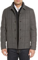Luciano Barbera Men's 'Historical' Herringbone Wool Blend Coat