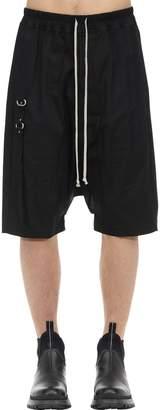 Rick Owens Rick's Pods Cotton Shorts W/metal Detail