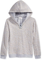 Kandy Kiss Lace-Up Hooded Top, Big Girls (7-16)