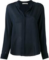 Vince band collar shirt - women - Silk - 6