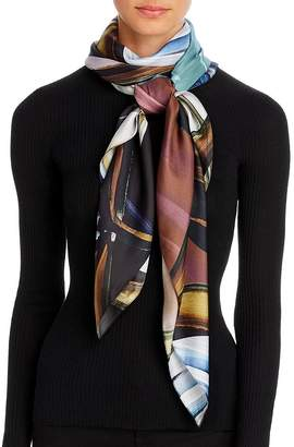 Echo Painted Tulip Silk Square Scarf