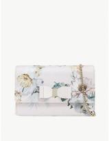 Ted Baker Carmil Woodland-print clutch bag