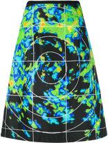 Prada Linea Rossa forecast print A-line skirt
