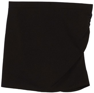 Socialite Side Ruched Mini Skirt (Plus Size)