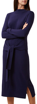 Hobbs Tilly Tie Waist Dress, French Navy