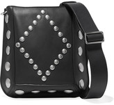 Isabel Marant Oksan Large Studded Leather Shoulder Bag - Black