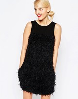 Love Moschino Fur Paneled Dress