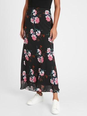 Banana Republic Floral Bias-Cut Maxi Skirt