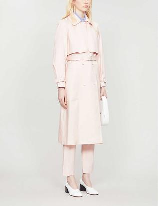 Claudie Pierlot Pastel classic-fit woven trench coat