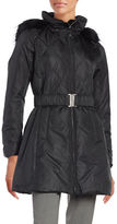 CeCe Quilted Faux Fur-Trimmed Coat