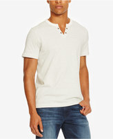 Kenneth Cole Reaction Men's Split-Neck Striped Eyelet T-Shirt