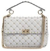 Valentino Garavani Rockstud Spike Medium Shoulder Bag - White