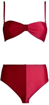 Leslie Amon Thea Two-Colour Bikini Set