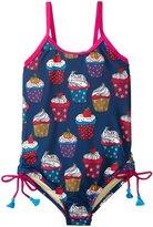 Pink Chicken Sadie Swim Suit (Toddler/Kid) - Estate Blue Cupcake - 2Y
