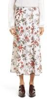 McQ Women's Floral Print Skirt