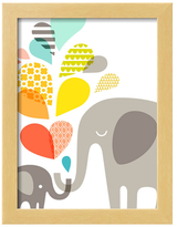 Elephants by The Paper Nut (Framed)