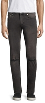 BLK DNM Distressed Cotton Straight Jeans