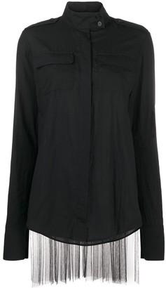 Vera Wang Pleated Long-Sleeved Shirt