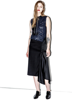 3.1 Phillip Lim Lace Bodice Dress with Wool and Charmeuse Combo Skirt