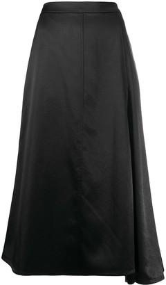 Jil Sander Asymmetric Draped Midi Skirt