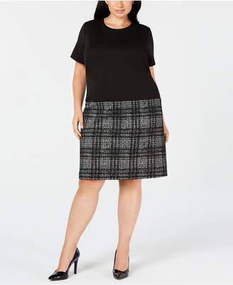 Calvin Klein Trendy Plus Size Drop-Waist Shift Dress