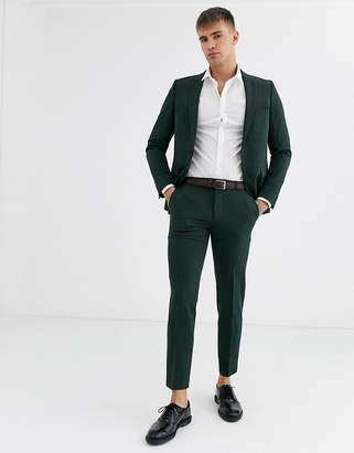 Burton Menswear skinny fit suit pants in green