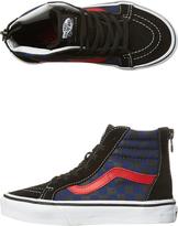 Vans Kids Sk8 Hi Zip Checkerboard Shoe Black