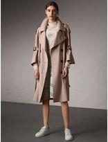 Burberry Flared Sleeve Tropical Gabardine Trench Coat