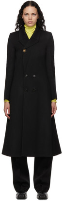 Bottega Veneta Black Wool Twill Double-Breasted Coat