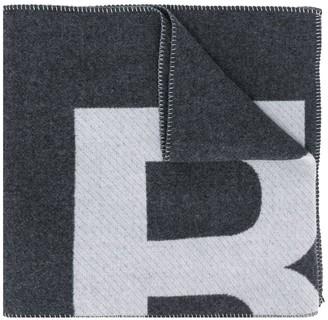 Isabel Marant Loli logo-print blanket scarf