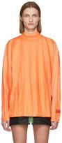 Heron Preston Orange Tie-Dye Style T-Shirt