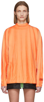 Heron Preston Orange Tie-Dye Style T-Shirt