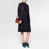 Paul Smith Women's Navy 'A Coat To Travel In' Wool Epsom Coat