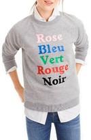 J.Crew Women's French Colors Sweatshirt