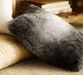 Pottery Barn Faux Fur Pillow Cover - Gray