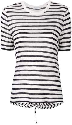 Alexander Wang striped cutout T-shirt
