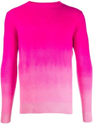 The Elder Statesman Cashmere Gradient-Pattern Jumper