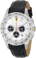 Ferrari Men's 0830038 Analog Display Japanese Quartz Black Watch