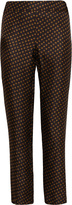 Galitzine Silk Straight Leg Pants