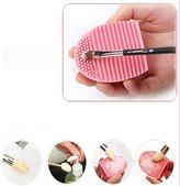 Yunhua Cosmetic Makeup Brush Finger Glove Silicone Hand Cleaning Tools (2 Pack Cleaner)