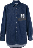 Raf Simons logo patch denim shirt