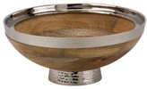 10 Strawberry Street 'Telluride' Footed Wood & Stainless Steel Serving Bowl