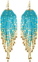 Nakamol Long Beaded Fringe Drop Earrings, Blue