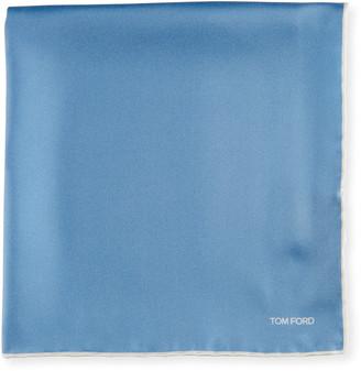 Tom Ford Men's Solid Cotton Pocket Square